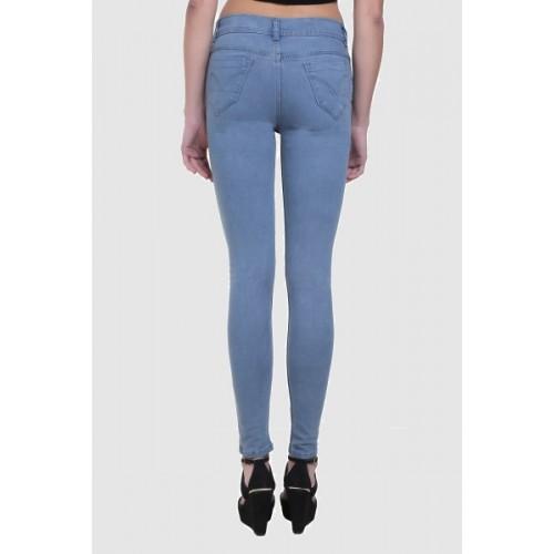 Crease & Clips Slim Women's Grey Jeans
