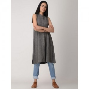 BANDHEJ Grey Poly Cotton Kurta