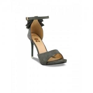 20Dresses Women Grey Solid Suede Sandals