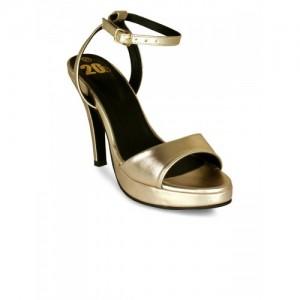 20Dresses Women Gold-Toned Solid Platform Heels