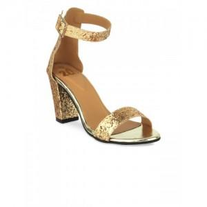 20Dresses Women Gold-Toned Woven Design Heels