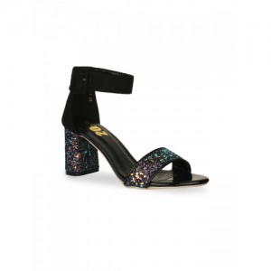 20Dresses Women Black Embellished Block Heels