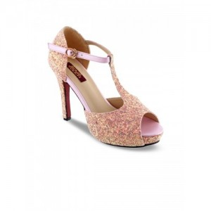SHUZ TOUCH Women Pink Embellished Sandals