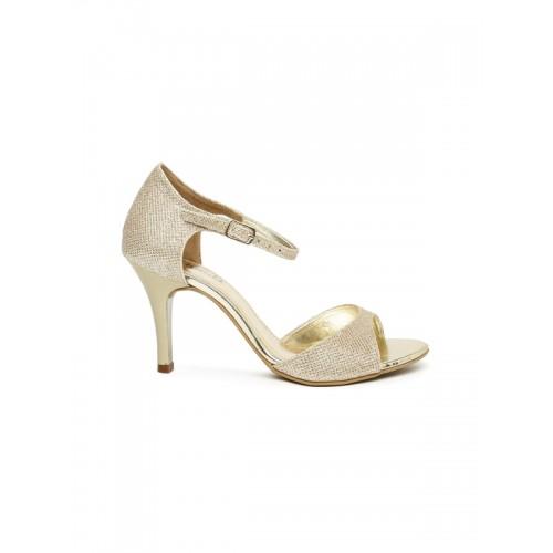 Buy Inc 5 Women Muted Gold-Toned Solid Heels online | Looksgud.in