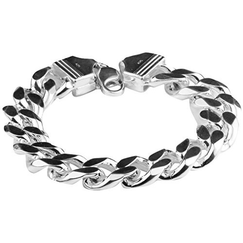a1c4e0522aefcc ... Swank Silver Arisidh Genuine Thick 92.5 Pure Sterling Silver Bracelet  For Men And Boys ...