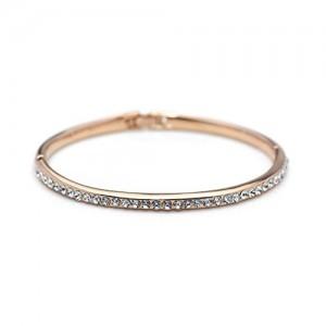 Ananth Jewels Swarovski Austria Rhinestone Bangle Rose Gold Plated Shining Bracelet for Women