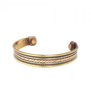Discount4Product Multi-Colour Copper With Magnet Kada Unisex Bracelet