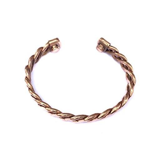 Discount4Product Pure Copper Thick Bracelet Kada