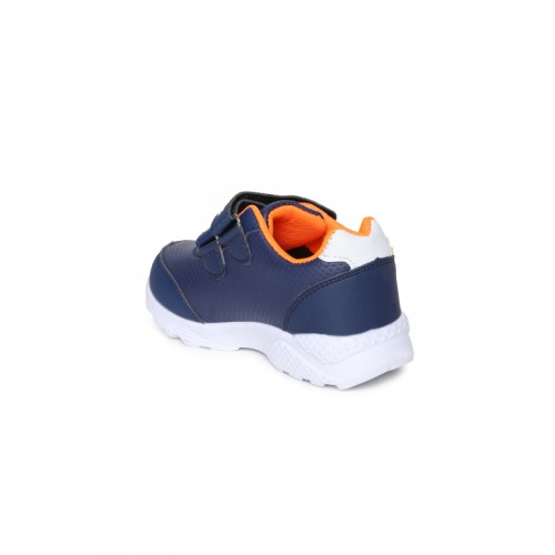 Kittens Boys Navy Blue Synthetic Leather Boat Shoes
