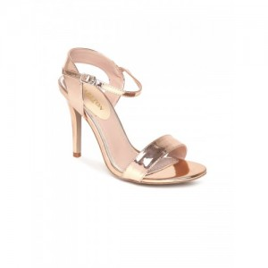 Carlton London Gold-Toned Solid Sandals