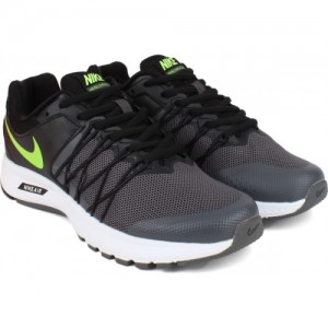 Nike Gray AIR RELENTLESS 6 MSL Gray Lace Up Running Shoes
