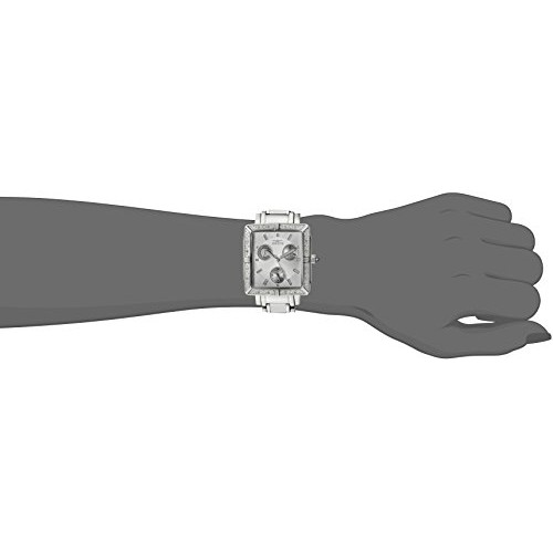 Invicta Watches, Women's Square Stainless Steel Chronograph Diamond, Model 5377