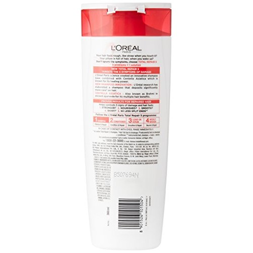L'Oreal Paris Total Repair 5 Advanced Repairing Shampoo, 360ml+36ml Free