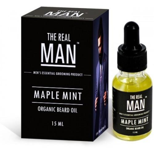 The Real Man Organic Beard Oil Maple Mint Hair Oil