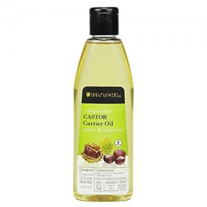 Soulflower Castor Oil for Hair, Skin and Beard Growth, 225ml