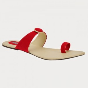 Azores Women Red Synthetic Flats Chappal