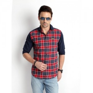 Rodid Checkered Red Casual Shirt