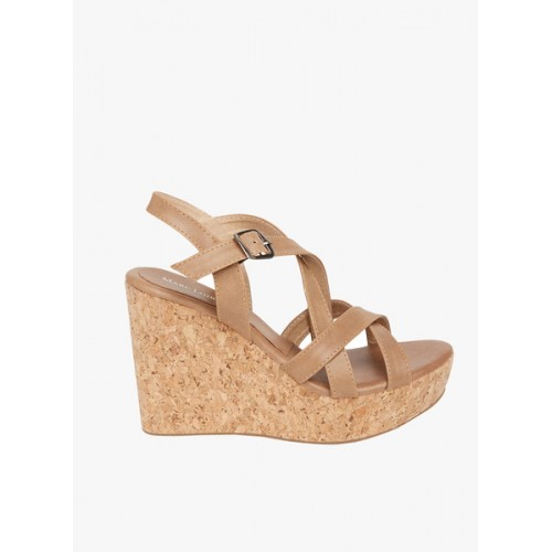 Marc Loire Camel Synthetic leather Wedges