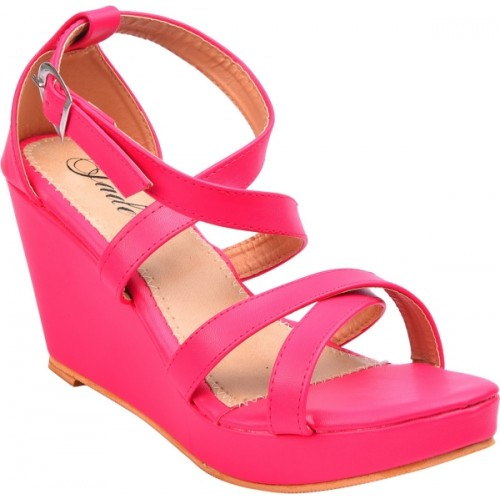 Jade Women Pink Wedges