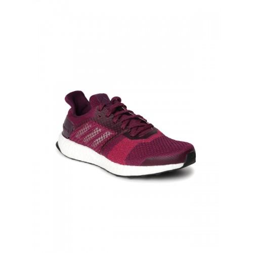 the best attitude 14173 a7683 Buy Adidas Women Burgundy Ultraboost ST Running Shoes online ...
