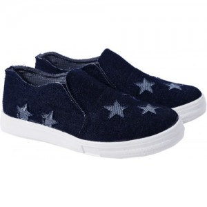 Heels And Toes Navy Blue Casuals Shoes For Women