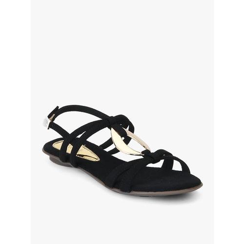 ... Catwalk Women Black Solid Flats ...