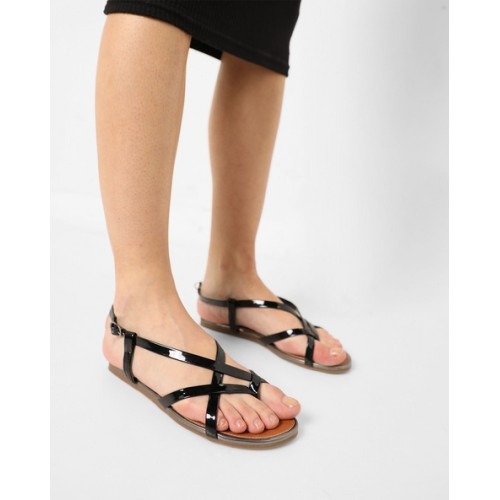 245c0566115593 Buy Carlton London Flat Sandals with Criss-Cross Straps online ...