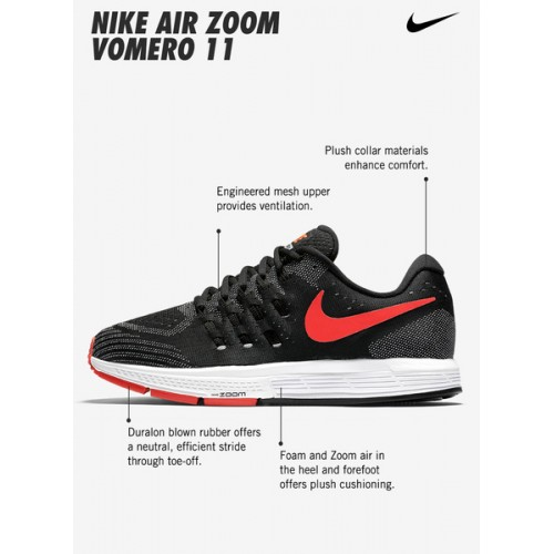 ... Nike Air Zoom Vomero 11 Red Running Shoes ...