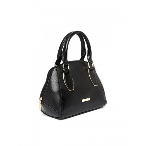 Addons Black Solid Handbag