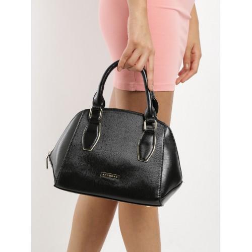 Addons Black Solid Handbag