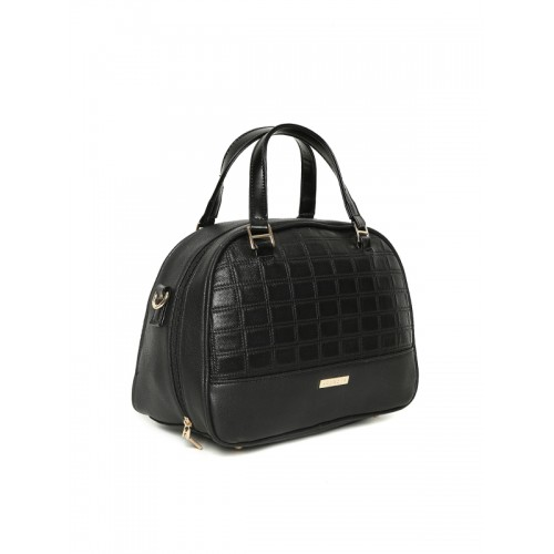 Addons Black Textured Handheld Bag with Sling Strap
