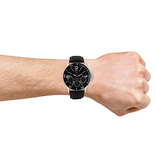 Golden Bell Black Chronograph Look Black Dial Watch GB-0028BlkDBlkStrap