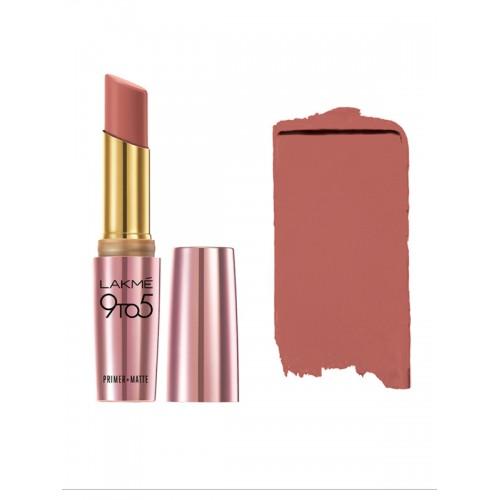 Lakme 9 to 5 Primer + Matte Lip Color - Blushing Skin Color