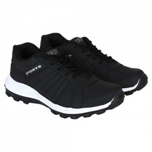 Oricum  Black Canvas Running Sports Shoes