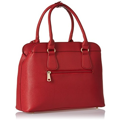 Diana Korr Layla Red Faux Leather Shoulder Bag