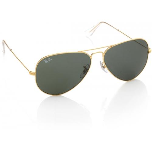 Ray Ban Green Aviator Sunglasses