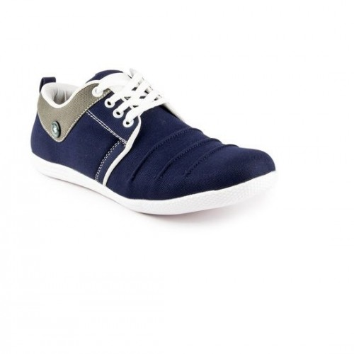 Clymb Blue Canvas Lace Up Casual Shoes