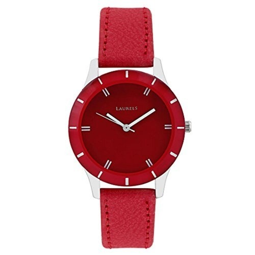 Laurels Red Leather Solid Analog -1003 Watch