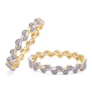 HYDERABAD JEWELS CZ Stone Studded Bangle for Women