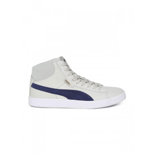 f332f3e9438 Buy Puma White Solid 1948 Mid Sl Idp Synthetic Mid-Top Sneakers ...