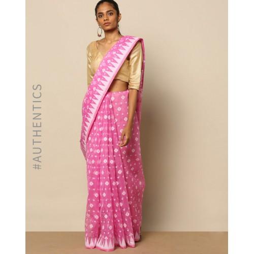 9ddbf05412 ... Indie Picks Bengal Handloom Tant Tangail Jamdani Design Saree ...