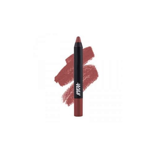 Nykaa MATTE-ilicious Lip Crayon - Jade Rose (2.8gm) shade No 11 With Prove Your Point Cosmetic Sharpener