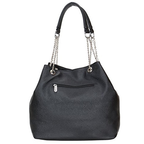 ADISA Black PU Solid handbag