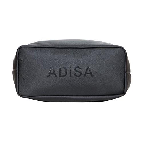ADISA Black PU Solid handbag