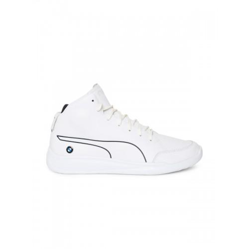 Puma Men White Printed Leather BMW MS