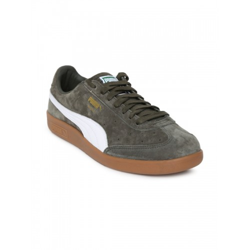 dcad6ade64f Buy Puma Unisex Olive Green Madrid Suede Sneakers online | Looksgud.in