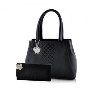 Butterflies Women's Bags (Black, Combo of 2, BNS WB0227)