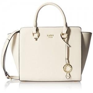 Cathy London Beige Synthetic Leather Handbag