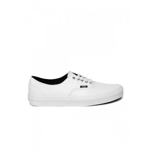 Buy Vans Authentic Decon White Rubber Lace Up Sneakers Online