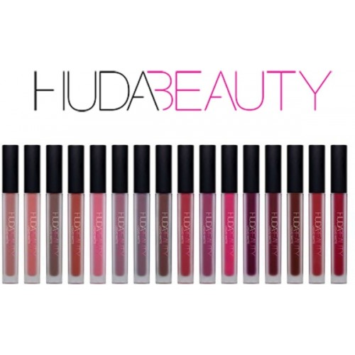 Huda beauty Multicolor Liquid Matte Lipstick Set Of 16